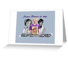 James Bourne Is My Superhero Greeting Card