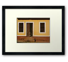 A house is made of walls and beams; a home is built with love Framed Print