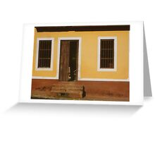 A house is made of walls and beams; a home is built with love Greeting Card