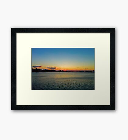 One Bright Morning! Framed Print