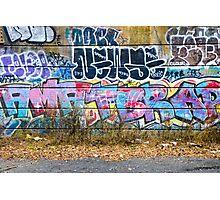 Abstract Graffiti Wall Art Photography - The Wall Photographic Print