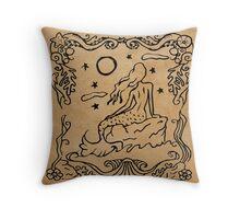Mermaid Tarot: The Moon Throw Pillow