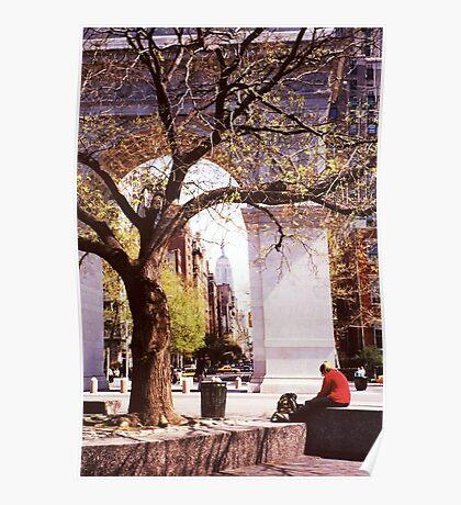 Spring In Washington Square, New York, NY Poster
