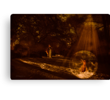 Surprise in the woods~ Canvas Print