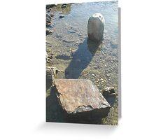 River Rocks American River Canyon Greeting Card