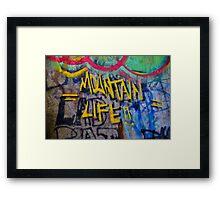Graffiti Wall Art Photography - Mountain Life Framed Print