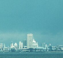 Not The Emerald City, Quite ~ Buffalo In Blue by artwhiz47