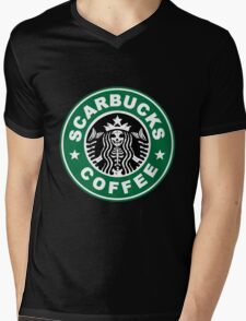 Scarbucks Mens V-Neck T-Shirt