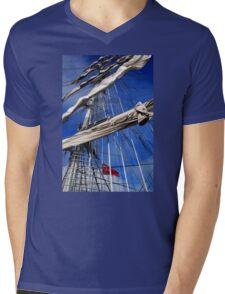 Mercedes Rigging Mens V-Neck T-Shirt