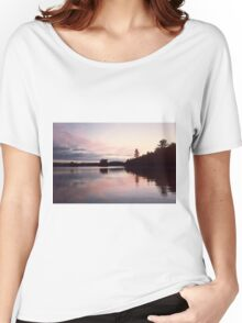 Duck Lake Sunset Reducks Women's Relaxed Fit T-Shirt