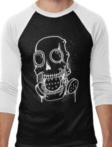 Skull Mask (Spray) + inverted Men's Baseball ¾ T-Shirt