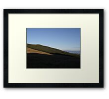Sun Setting over the Donegal Hills Framed Print