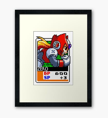 Zero - Mega Man X Framed Print