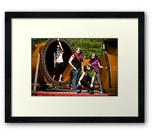 In the pipes Framed Print