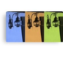 Tricolored Vintage Lamp Abstract Canvas Print
