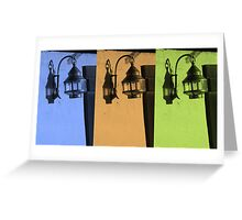 Tricolored Vintage Lamp Abstract Greeting Card