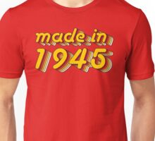 Made in 1945 (Yellow&Red) Unisex T-Shirt