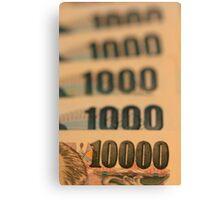 Ten Thousand Yens Canvas Print
