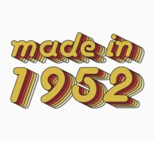 Made in 1952 (Yellow&Red) Kids Tee