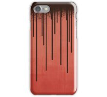 DROPS / coral iPhone Case/Skin