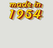 Made in 1954 (Yellow&Red) Womens Fitted T-Shirt