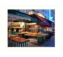 Night Market, Paris Art Print