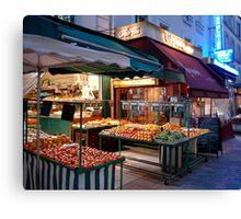 Night Market, Paris Canvas Print