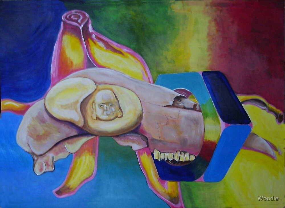 Budha and sheep's skull  by Woodie