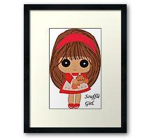 Soufflé Girl Framed Print