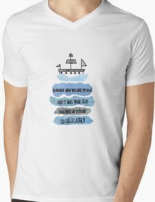 When You Were My Boat Mens V-Neck T-Shirt