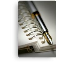 Pen And Spiral Bound Canvas Print