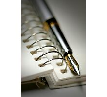 Pen And Spiral Bound Photographic Print