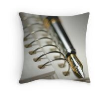 Pen And Spiral Bound Throw Pillow