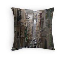 Street scene, Valletta, Malta Throw Pillow