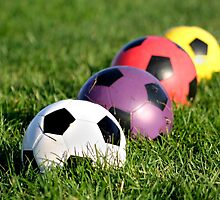Colorful Soccer Balls by snehit