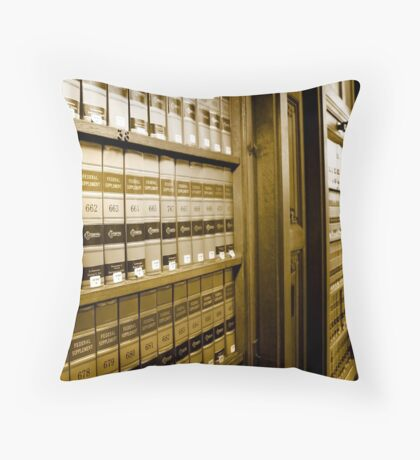 Law Book Library Throw Pillow