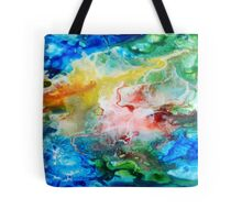 Unique colorful galaxy abstract art Tote Bag