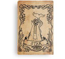 Mermaid Tarot: The Star Metal Print