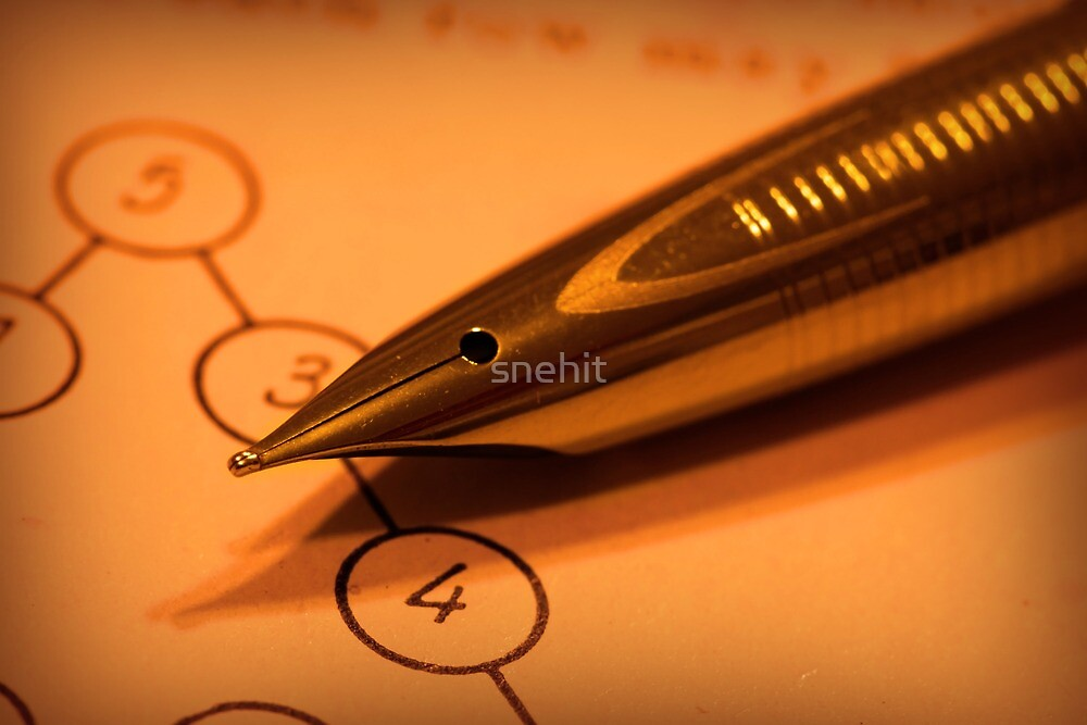 Antique pen on a puzzle by snehit