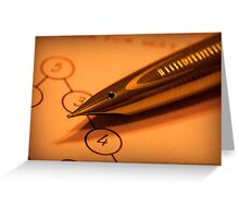 Antique pen on a puzzle Greeting Card
