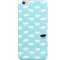 Sheep wallpaper white on blue , one black iPhone Case/Skin