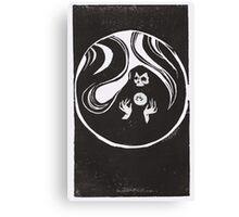 Reaper Linoleum Canvas Print