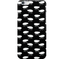 Sheep wallpaper white on black iPhone Case/Skin