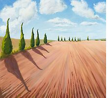 Cypress Trees by Tracey Pacitti