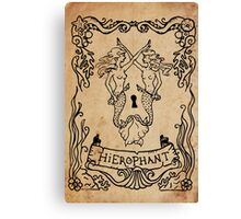 Mermaid Tarot: Hierophant Canvas Print