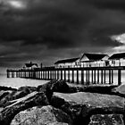 Southwold Pier on a Stormy Day by energyman242