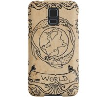 Mermaid Tarot: The World Samsung Galaxy Case/Skin