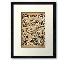 Mermaid Tarot: The World Framed Print