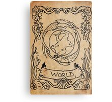 Mermaid Tarot: The World Metal Print