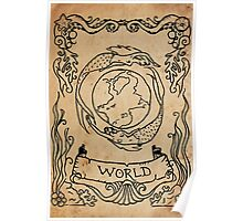 Mermaid Tarot: The World Poster